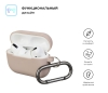 Airpods Pro Ultrathin Silicon case with hook Pink Sand (in box) рис.2