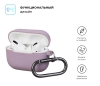 Airpods Pro Ultrathin Silicon case with hook Lilac (in box) рис.2