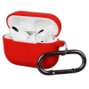 Airpods Pro Ultrathin Silicon case with hook Red (in box) рис.1