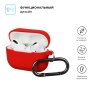 Airpods Pro Ultrathin Silicon case with hook Red (in box) мал.2