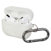 Airpods Pro Ultrathin Silicon case with hook White (in box) рис.1
