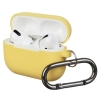 Airpods Pro Ultrathin Silicon case with hook Yellow (in box) рис.1