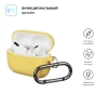 Airpods Pro Ultrathin Silicon case with hook Yellow (in box) рис.2