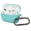 Airpods Pro Ultrathin Silicon case with hook Coastal Blue (in box) рис.1