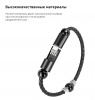 Кабель Armorstandart Lightning Portable Wrist Band Leather Cord Round 22,5cm Black рис.3