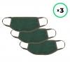 Набор защитных масок ArmorStandart многоразовых Pine Green 3 шт. рис.1