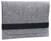 Чехол для ноутбука Gmakin для Macbook Air/Pro 13,3 светло-серый, горизонтальный, на резинке (GM15) мал.1
