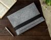 Чехол для ноутбука Gmakin для Macbook Air/Pro 13,3 светло-серый, горизонтальный, на резинке (GM15) мал.5