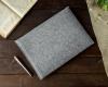 Чехол для ноутбука Gmakin для Macbook Air/Pro 13,3 светло-серый, горизонтальный, на резинке (GM15) рис.6