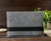 Чехол для ноутбука Gmakin для Macbook Air/Pro 13,3 светло-серый, горизонтальный, на резинке (GM15) мал.7