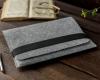 Чехол для ноутбука Gmakin для Macbook Air/Pro 13,3 светло-серый, горизонтальный, на резинке (GM15) мал.8