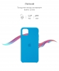 Silicone Case Original for Apple iPhone 11 Pro Max (OEM) - Surf Blue мал.3