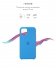 Silicone Case Original for Apple iPhone 11 Pro (OEM) - Surf Blue мал.3