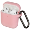 New Airpods Silicon case with hook pink (in box) рис.1