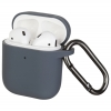 New Airpods Silicon case with hook advanced ash (in box) мал.1
