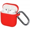 New Airpods Silicon case with hook red (in box) рис.1
