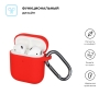 New Airpods Silicon case with hook red (in box) рис.2