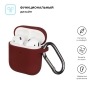 New Airpods Silicon case with hook burgundy (in box) рис.2