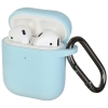 New Airpods Silicon case with hook sky blue (in box) рис.1