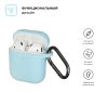 New Airpods Silicon case with hook sky blue (in box) рис.2
