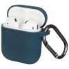 New Airpods Silicon case with hook pine green (in box) рис.1