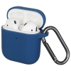 New Airpods Silicon case with hook blue (in box) рис.1