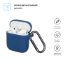 New Airpods Silicon case with hook blue (in box) рис.2