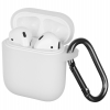 New Airpods Silicon case with hook transparent (in box) рис.1
