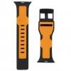 UAG Civilian Silicone Watch Strap for Apple Watch 38/40 mm (OEM) - black/orange мал.3