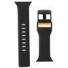 UAG Civilian Silicone Watch Strap for Apple Watch 38/40 mm (OEM) - black/orange мал.4