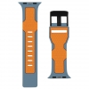 UAG Civilian Silicone Watch Strap for Apple Watch 38/40 mm (OEM) - slate/orange мал.3