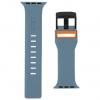 UAG Civilian Silicone Watch Strap for Apple Watch 38/40 mm (OEM) - slate/orange мал.4