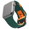 UAG Civilian Silicone Watch Strap for Apple Watch 38/40 mm (OEM) - green/orange мал.1