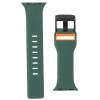 UAG Civilian Silicone Watch Strap for Apple Watch 38/40 mm (OEM) - green/orange мал.2