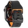 UAG Civilian Silicone Watch Strap for Apple Watch 42/44 mm (OEM) - black/orange мал.5