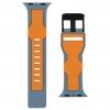 UAG Civilian Silicone Watch Strap for Apple Watch 42/44 mm (OEM) - slate/orange мал.3