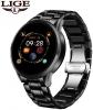 LIGE Smart Watch Stainless Steel Black (BW0126B) мал.1