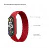 Ремешок ArmorStandart Braided Solo Loop для Xiaomi Mi Band 4/5/6 Red size M мал.3