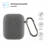 Airpods 2 Ultrathin Silicon case with hook Advanced Ash (in box) мал.2