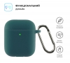 Airpods 2 Ultrathin Silicon case with hook Atrovirens (in box) мал.2