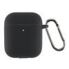 Airpods 2 Ultrathin Silicon case with hook Black (in box) мал.1