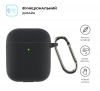 Airpods 2 Ultrathin Silicon case with hook Black (in box) мал.2