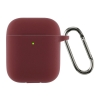 Airpods 2 Ultrathin Silicon case with hook Burgundy (in box) мал.1