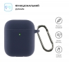 Airpods 2 Ultrathin Silicon case with hook Dark Blue (in box) мал.2