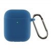 Airpods 2 Ultrathin Silicon case with hook Lake Blue (in box) мал.1