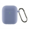 Airpods 2 Ultrathin Silicon case with hook Lavender grey (in box) мал.1