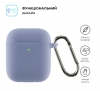 Airpods 2 Ultrathin Silicon case with hook Lavender grey (in box) мал.2