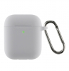 Airpods 2 Ultrathin Silicon case with hook Light Grey (in box) мал.1
