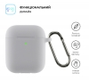 Airpods 2 Ultrathin Silicon case with hook Light Grey (in box) мал.2