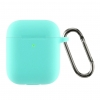 Airpods 2 Ultrathin Silicon case with hook Mint Green (in box) мал.1